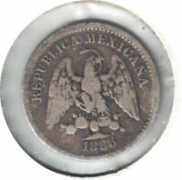 1888 ZsZ MEXICO 5 CENTAVOS ZACATECAS