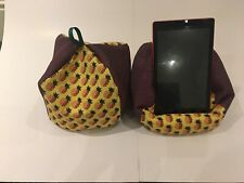 Pineapple-iPad tablet cushion Beanbag stand holder fits tablets kindle,phone