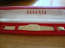 JUVENIA MENS 18K ( .750 ) CASE & BRACELET QUARTZ MVT( NEW MOVEMENT) ORIGINAL BOX