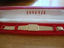 JUVENIA MENS 18K ( .750 ) CASE & BRACELET WATCH QUARTZ ORIGINAL BOX