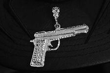 shotgun machine gun handgun bullet pendant Revolver 9mm Sterling Silver charm