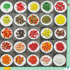 10Pcs Fake Vegetable Lifelike Simulation Mini Artificial Fruits Fake Fruit Foam