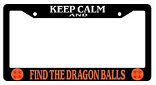 Black License Plate Frame KEEP CALM AND FIND THE DRAGONBALLS ORANGE (LOGOS) Auto