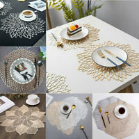 Silver Gold Placemat Washable Dining Wedding Party Table Mats Coaster Insulation