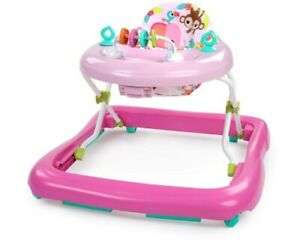 Bright Starts Floral Friends Walker with Easy Fold - Pink
