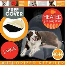 K&H Lectro-SOFT Igloo-Style Heated Outdoor/Indoor Dog Bed LG w/Free Cover KH1053