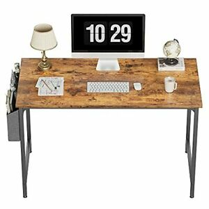 """CubiCubi Study Computer Desk 47"""" Home Office Writing Small Desk, Modern Simple S"""
