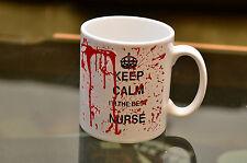 KEEP Calm Best Nurse Novelty Bloody Joke Mug Birthday Gift Qualified Printed