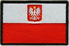 "(A16) POLAND FLAG 3"" x 2"" iron on patch (5176) Biker"