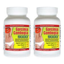 2 Garcinia Cambogia Extract Pure 1000mg Potassium Calcium Pure HCA Weight Loss