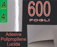 600 FF A4 ADESIVA VINILE BIANCA LUCIDA POLIPROPILENE X STAMPA LASER PVC