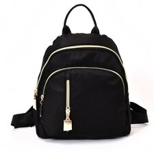 Fashion Women Black Small Backpack Travel Oxford Cloth Handbag Shoulder Bag