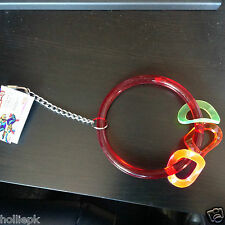 JUNGLE GEMS ARYLIC LARGE BIRD PARROT RING + MOVING PLAY RINGS CHAIN HOOKS CAGE
