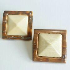 Shell Square Shape Earrings C06