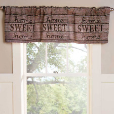 Rustic Kitchen Window Valance Country Barnwood Look Fabric Bathroom Home Decor & Rustic/Primitive Curtains Drapes u0026 Valances for sale | eBay