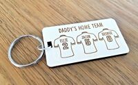 Personalised Fathers Day Gift For Daddy Dad Grandad Football Rugby Keyring Gifts