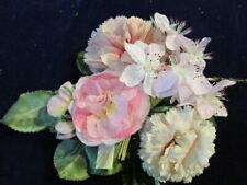 "Vintage Millinery Flower Collection 2""-3"" Pink Shades German Japan H2757"