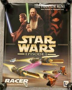 "2000 STAR WARS EPISODE I PC & PLAYSTATION GAME/N64 RACER 22x28"" PROMO POSTER M"