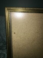 Vintage gold brass metal emboss photo picture frames 5x7 shabby chic wedding dec