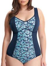 Abbigliamento blu con girocollo per il mare e la piscina da donna