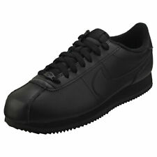 Nike Cortez Basic Mens Black Leather Casual Trainers