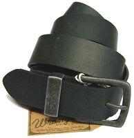 WRANGLER cinturón de cuero de hombre negro o marrón OFERTA Talla a elegir - 4 cm