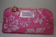 3x Lilly Pulitzer for Estee Lauder RARE Pink Floral Cosmetic Makeup Bag NEW
