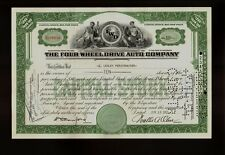 FWD FOUR WHEEL DRIVE AUTO CO Clintonville Wisconsin  old stock certificate 1950s