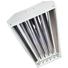 4 Lamp High Bay T5 High Output Fluorescent Light Fixture W/ Bulbs and Wire Guard