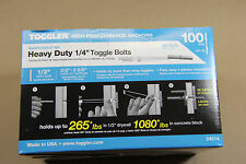"TOGGLER Snaptoggle BB 100 1/4"" Heavy Duty Toggle Bolts With Screws 24014"