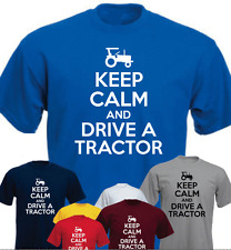 KEEP CALM AND DRIVE A TRACTOR Funny Gift T-shirt  Present