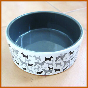 Porcelain Pet Dog Bowl / Feeder (New) Ceramic Dispenser Animal Dish Food Drink