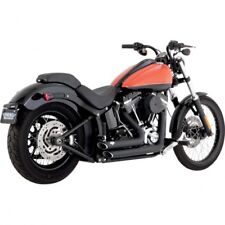 Exhaust shortshots staggered black - Vance & hines 47225