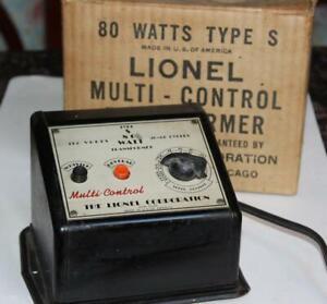 Lionel Type S 80 Watt Multi Control 115V Whistle Reverse Transformer w/ Box