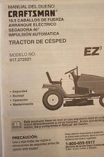 "Craftsman Manual Del Dueno 16.5 HP Segadora 46"" Modelo # 917.272021"