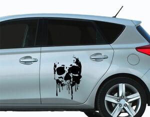 Autoaufkleber Skull Blood Totenkopf Auto Folie Car Tattoo Skulls 20x30 cm bsm076