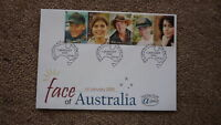 AUSTRALIAN FDC ALPHA STAMP ISSUE FIRST DAY COVER, 2000 FACE OF AUSTRALIA 3