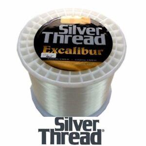 SILVER THREAD EXCALIBUR CLEAR FISHING LINE BULK SPOOL (3000 YDS) - 4 LB TEST