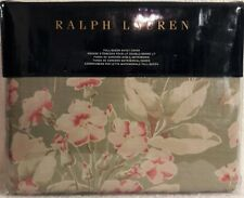 RALPH LAUREN Amagansett Layla Full/Queen Duvet Cover Sage Rose Cream Floral NIP