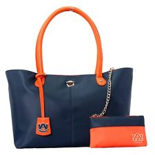 Auburn Tigers NCAA The Pamela Handbag with Aztec Necklace and Earrings