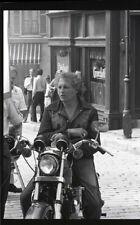 EVEL KNIEVEL ON MOTORCYCLE THE BIONIC WOMAN ORIGINAL 1976 ABC TV PHOTO NEGATIVE
