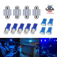13pcs Auto Car Interior LED Lights Dome License Plate Lamp 12V Kit Accessories