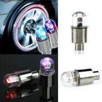 Car SUV Wheel Tire Tyre Valve Cap Neon LED Flash Light Lamp Colorful Accessories