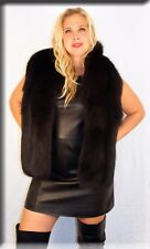 New Black Fox Fur Stole Efurs4less