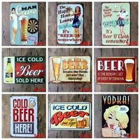 Beer Tin sign Wine Painting Wall Plaque Poster for Bar bedroom hotel Home Decor