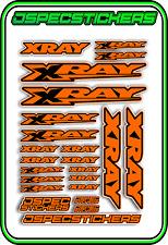 XRAY RC A5 STICKER SHEET NT1 T4 XB9 RX8 ELECTRIC NITRO DECALS R/C ORANGE B