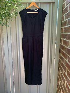 Gorman women's black tencel sleeveless long leg jumpsuit size 8 (fits like 10)