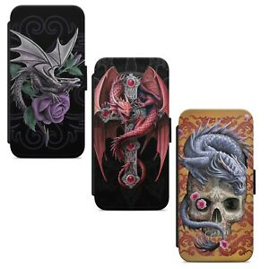 Fire Dragon Fantasy WALLET FLIP PHONE CASE COVER FOR IPHONE SAMSUNG HUAWEI