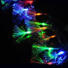 HOT 10M 100 Led Fiber Optic Fairy String Light Lamp Party Wedding Decor EU Plug