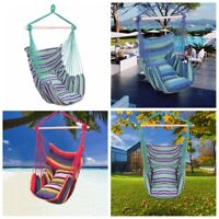 Hanging Rope Chair Porch Swing Yard Garden Patio Beach Hammock Cotton Outdoor